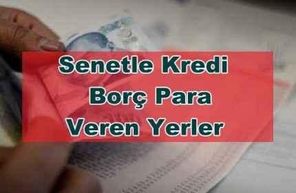 İzmir'de Senetle Para Veren Şahıslar